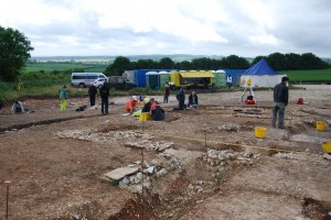 Durotriges Project (Roman Villa foundations revealed in the BIG Dig)