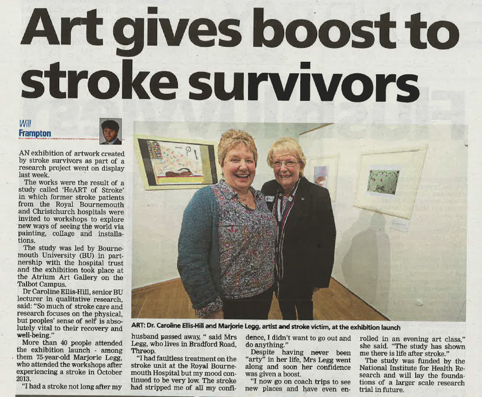2016_02_03 Bournemouth Daily Echo, p17, Art gives boost to stroke survivors