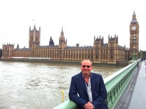 Dr Darren Lilleker outside Westminster.