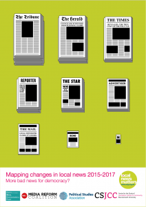 Mapping changes in local news 2015-2017
