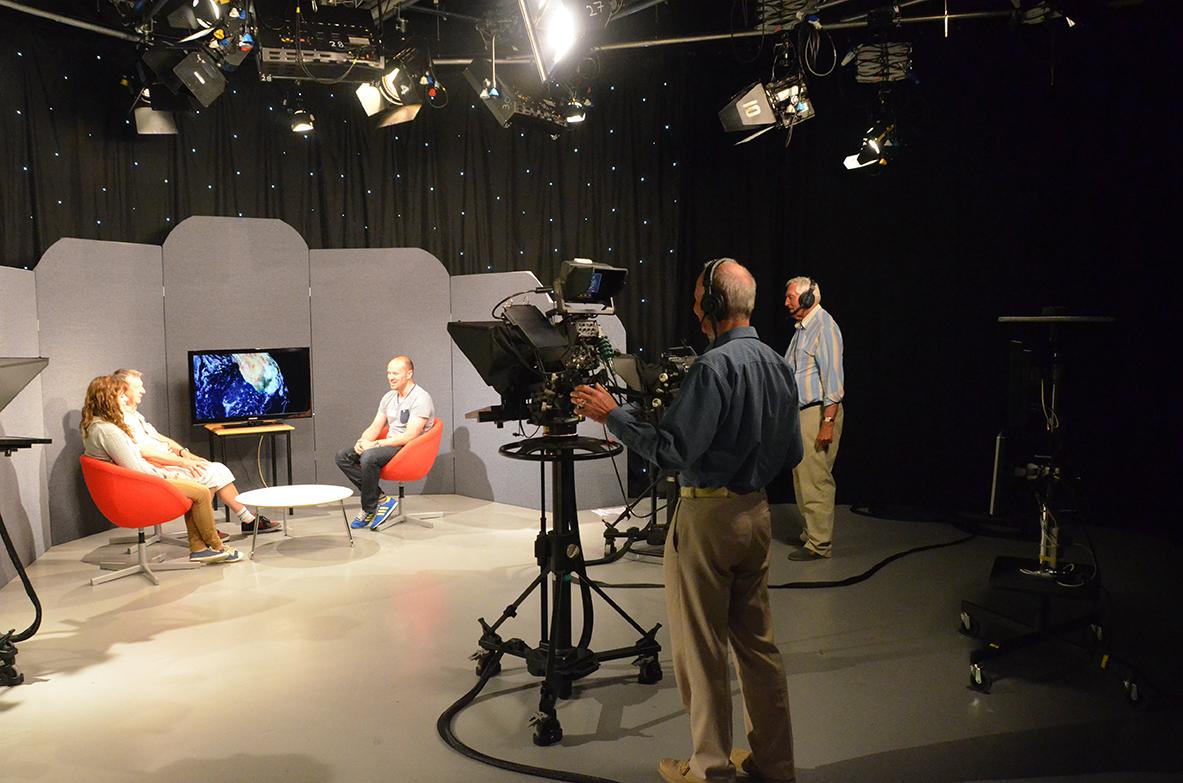 Behind scenes tv studio 2 bu research for A beautiful you at vesuvio salon studios