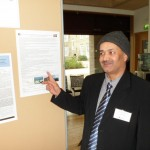 Jib Acharya in a poster presentation being done at GSGP Conference, Cambridge 2013