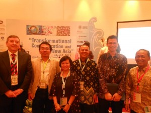 Nyawri Admad with peers at a Research conference in Yogakarta, Indonesia.