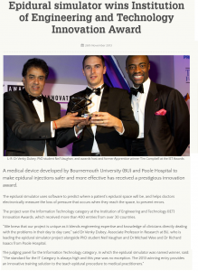 Winner of the IET Innovation Awards 2013 for Information Technology from over 400 entries worldwide.