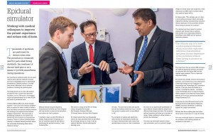 Showcased on the center page of the Research Chronicle Magazine 2014