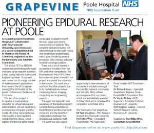 Printed in the Poole Hospital NHS Foundation Trust Grapevine News Magazine