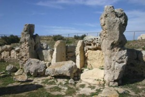 Entrance to the Neolithic temple at Skorba, Malta