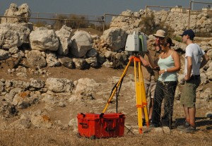 Laser-scanning the standing remains of the Skorba Temple