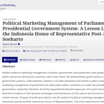 New research on political marketing in Indonesia