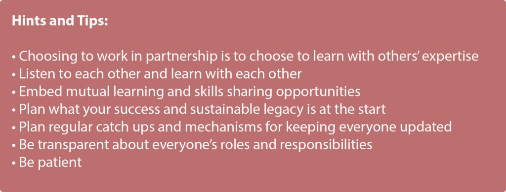 Building partnerships - hints and tips 2